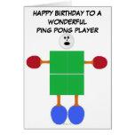 Cumpleaños del ping-pong tarjeta