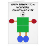 Cumpleaños del ping-pong tarjeta de felicitación