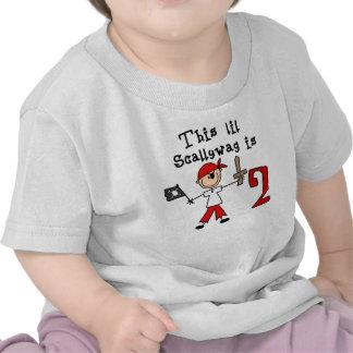 Cumpleaños del pirata del palillo 2do camisetas