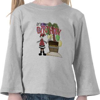 Cumpleaños del pirata camisetas