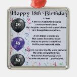 Cumpleaños del poema del hijo décimo octavo adorno