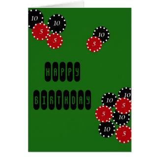 Cumpleaños del póker tarjeta de felicitación