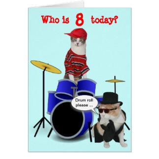Cumpleaños del redoble de tambor del niño adaptabl felicitación