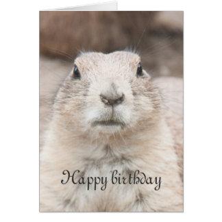 Cumpleaños del retrato del perro de las praderas felicitación