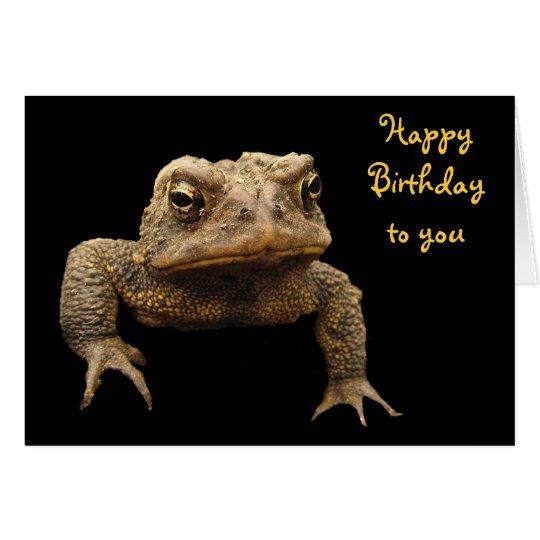 Cumpleaños del sapo americano tarjeta de felicitación
