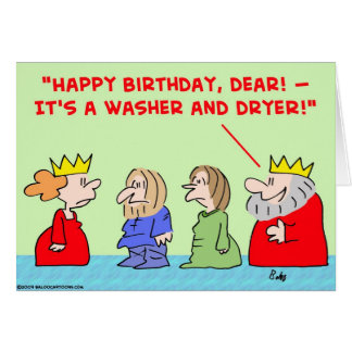 cumpleaños del secador de la lavadora de la reina felicitacion