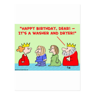 cumpleaños del secador de la lavadora de la reina tarjetas postales