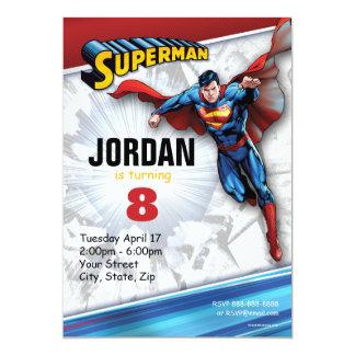 """Cumpleaños del superhombre invitación 5"""" x 7"""""""