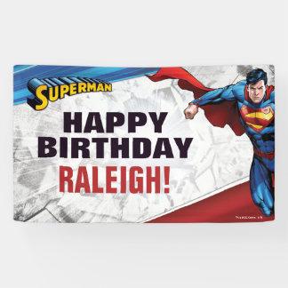 Cumpleaños del superhombre lona