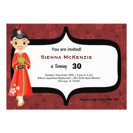Cumpleaños del sushi comunicado personal