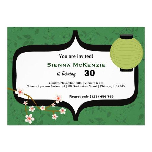 Cumpleaños del sushi invitacion personalizada