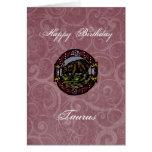 Cumpleaños del tauro tarjeta