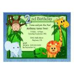 Cumpleaños del tema de la selva 2do invitacion personal