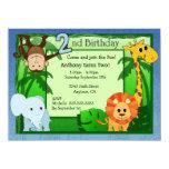 Cumpleaños del tema de la selva 2do invitación 13,9 x 19,0 cm