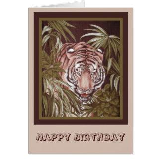 Cumpleaños del tigre felicitacion