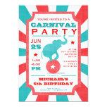 Cumpleaños del top grande del fiesta del carnaval invitacion personal