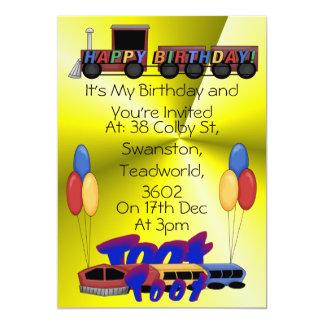 Cumpleaños del toque de bocina del toque de bocina invitación 12,7 x 17,8 cm