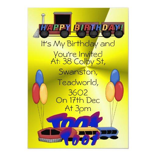 Cumpleaños del toque de bocina del toque de bocina invitación