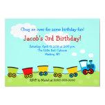 Cumpleaños del tren 5x7 de Chugga Choo Choo Invitación Personalizada