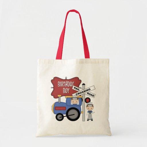 Cumpleaños del tren de los niños bolsa tela barata