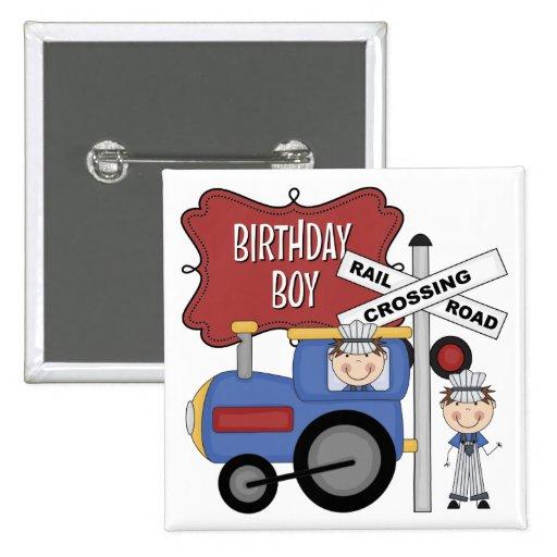 Cumpleaños del tren de los niños pin