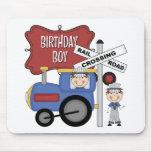 Cumpleaños del tren de los niños alfombrilla de ratones