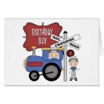 Cumpleaños del tren de los niños tarjetas
