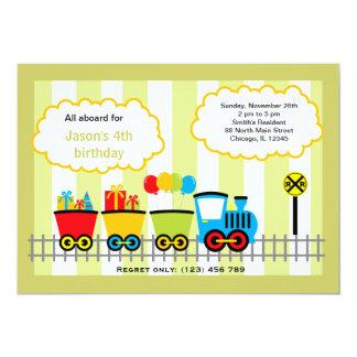 Cumpleaños del tren invitación 12,7 x 17,8 cm