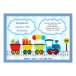 Cumpleaños del tren invitaciones personales