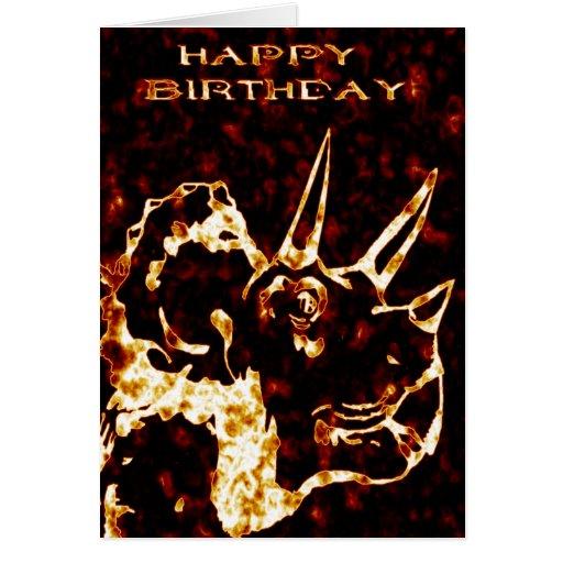 Cumpleaños del Triceratops de Firey Felicitación