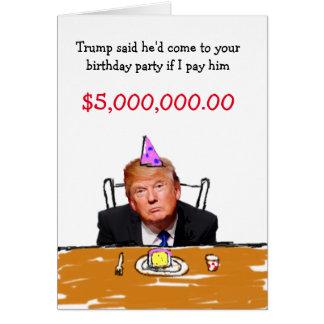 Cumpleaños del triunfo $5.000.000 tarjeta de felicitación