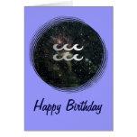 Cumpleaños del universo de la muestra de la estrel tarjeton
