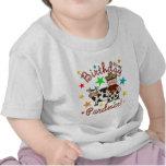 Cumpleaños del vaquero de los niños camiseta