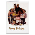 Cumpleaños del vaquero felicitaciones