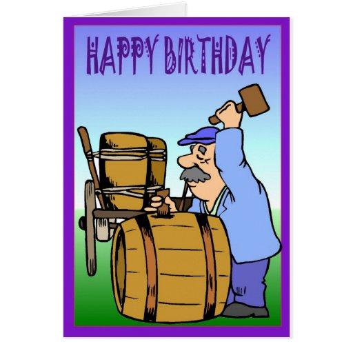 Cumpleaños del viñedo tarjeta