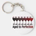 Cumpleaños del vino rojo llavero personalizado