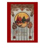Cumpleaños del vintage de la ilustración de los ve tarjetas postales