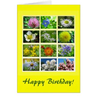 Cumpleaños del Wildflower Tarjeta De Felicitación