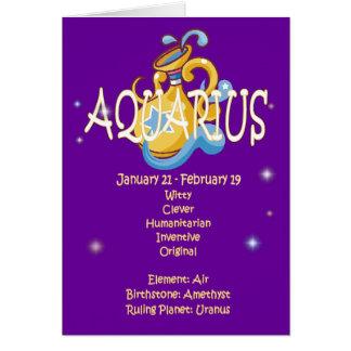 Cumpleaños del zodiaco del acuario tarjeta de felicitación