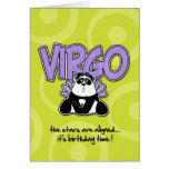 Cumpleaños del zodiaco - virgo tarjeton