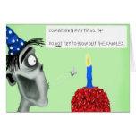 cumpleaños del zombi felicitacion