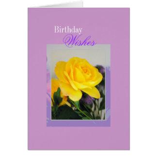 Cumpleaños, deseos tarjeta pequeña
