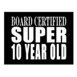 Cumpleaños divertido B. Certified Super diez años Postales