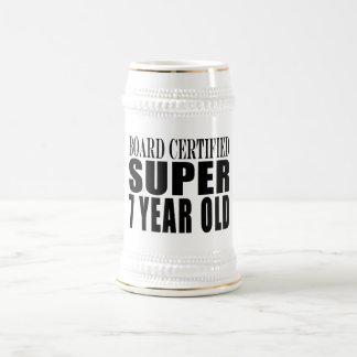 Cumpleaños divertido B. Certified Super siete años Jarra De Cerveza