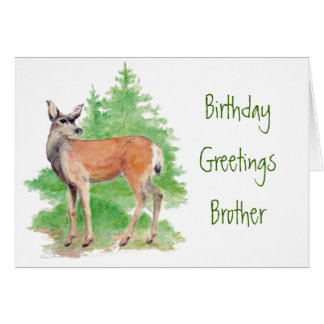 Cumpleaños divertido Brother alguien ciervos a mi Tarjeton