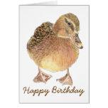 Cumpleaños divertido con la tarjeta linda del pato
