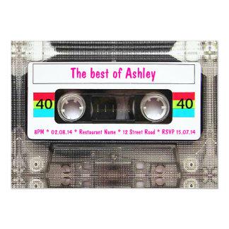 Cumpleaños divertido de la cinta de casete de DJ Invitación 12,7 X 17,8 Cm