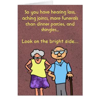 Cumpleaños divertido de la edad avanzada del tarjeta de felicitación