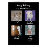 Cumpleaños divertido de la hija/de la nuera/de la  tarjeta