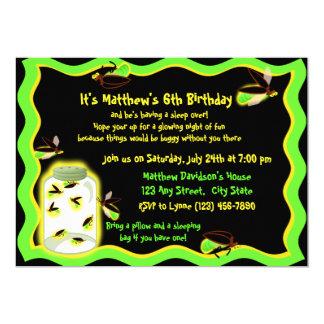 """Cumpleaños divertido de la luciérnaga invitación 5"""" x 7"""""""